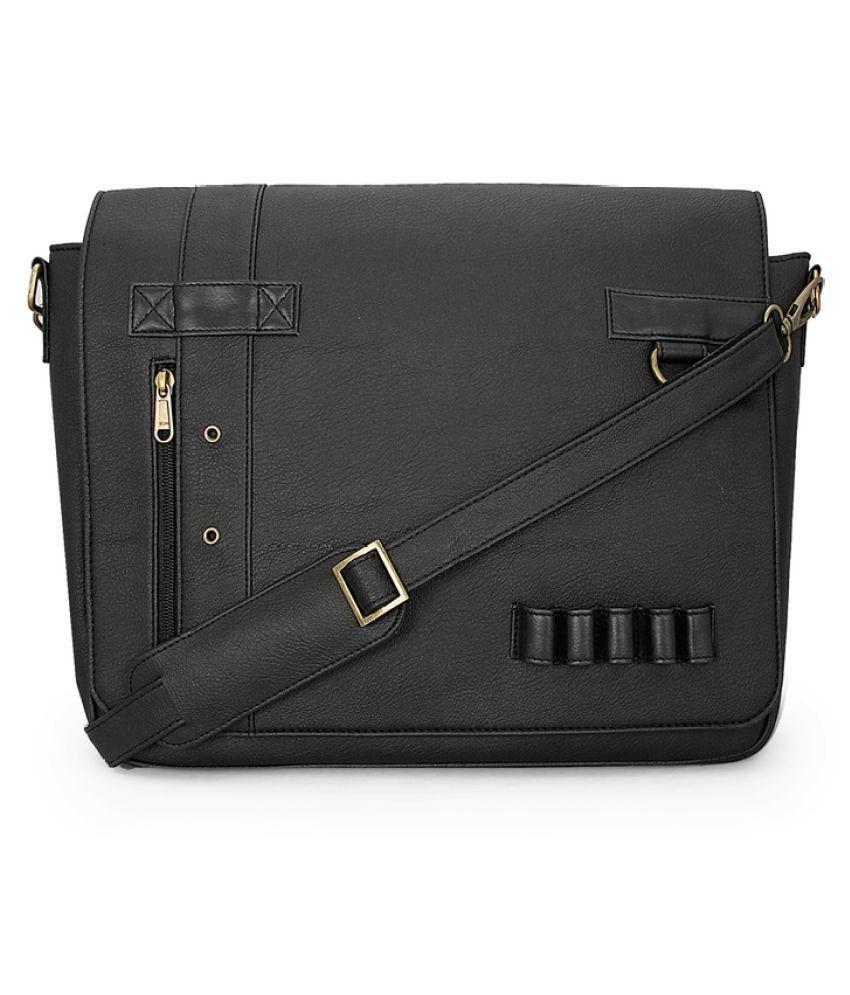 Toog Black Pure Leather Sling Bag