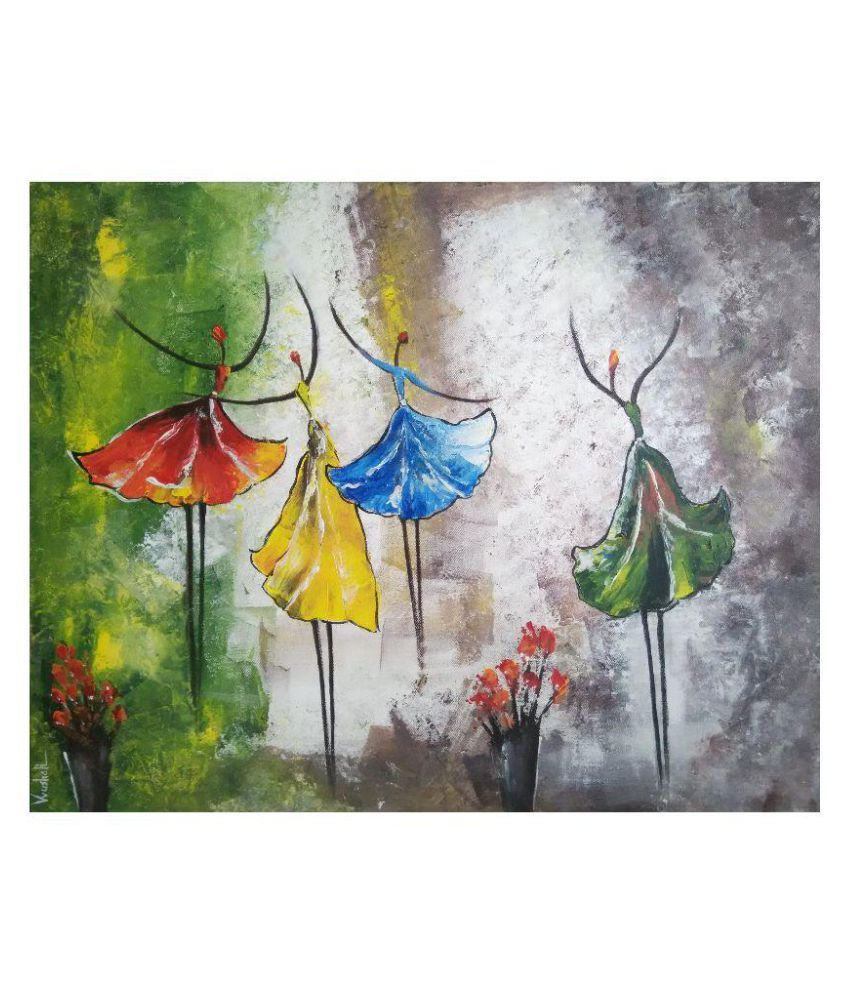 Vrushali's Art Canvas Painting With Frame Single Piece