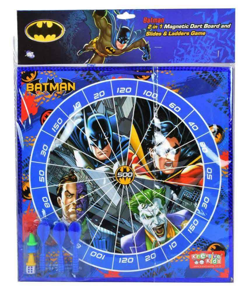 Warner Bros Batman 2 in 1 Megnatic Dart and Slides & Ladders Game