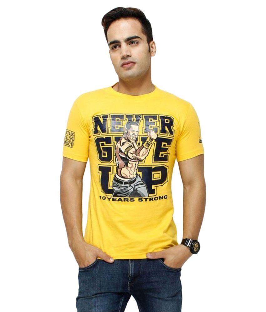 Rangifer Yellow Round T-Shirt