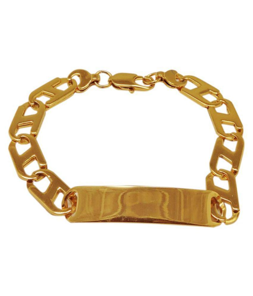 3dbe98b275d Sanaa Creations Style Stainless Steel Gold plated Alloy Designer mens  Bracelet On Snapdeal @navratri and ...