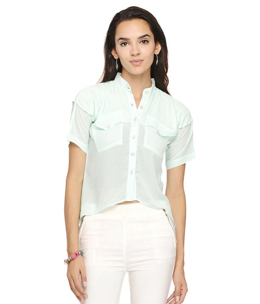 Desi Urban Turquoise Cotton Shirt