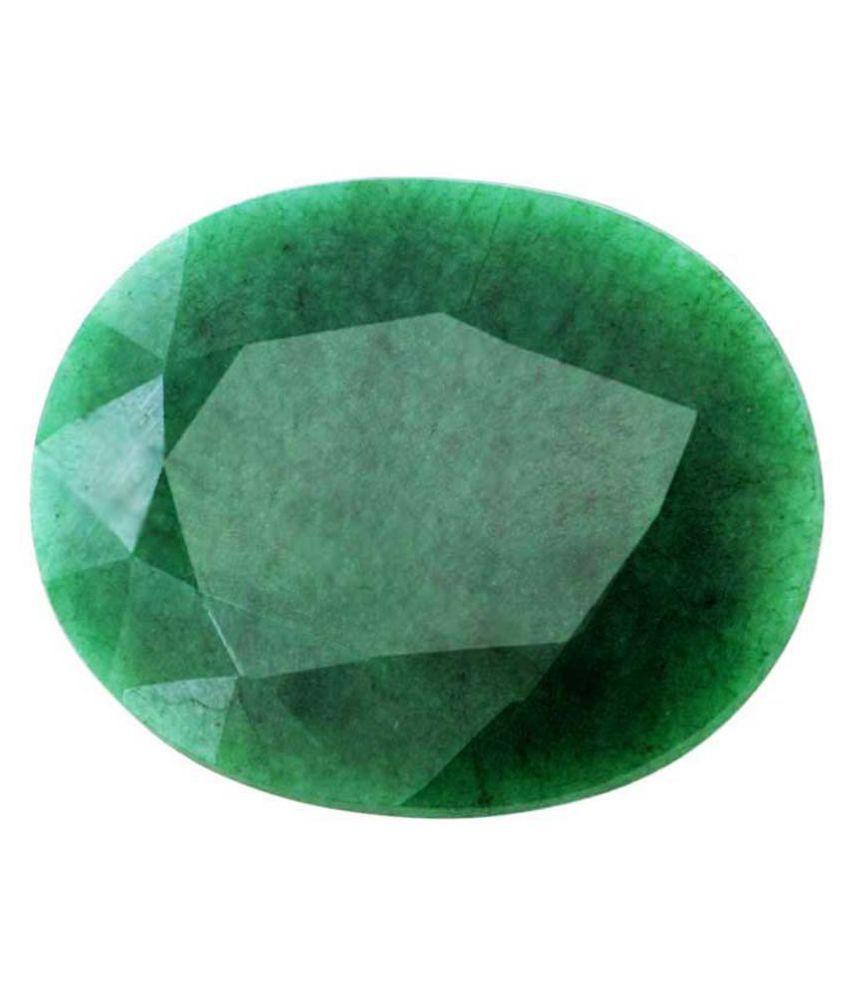 Nirvana Gems IGI Green Emerald Semi-precious Gemstone