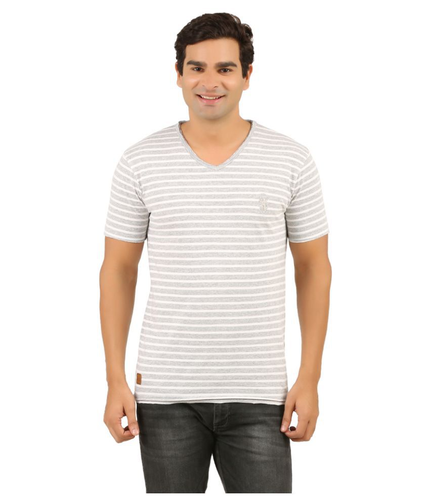 Rollear Grey V-Neck T-Shirt