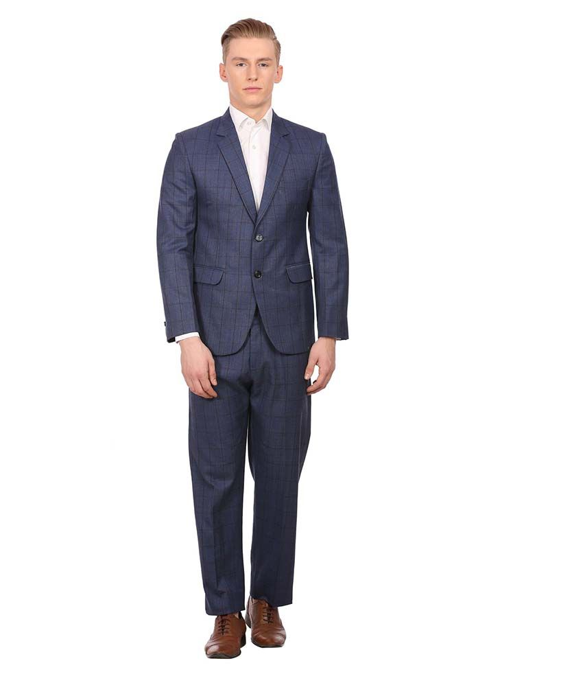 Wintage Blue Checks Party 2 Piece Suits