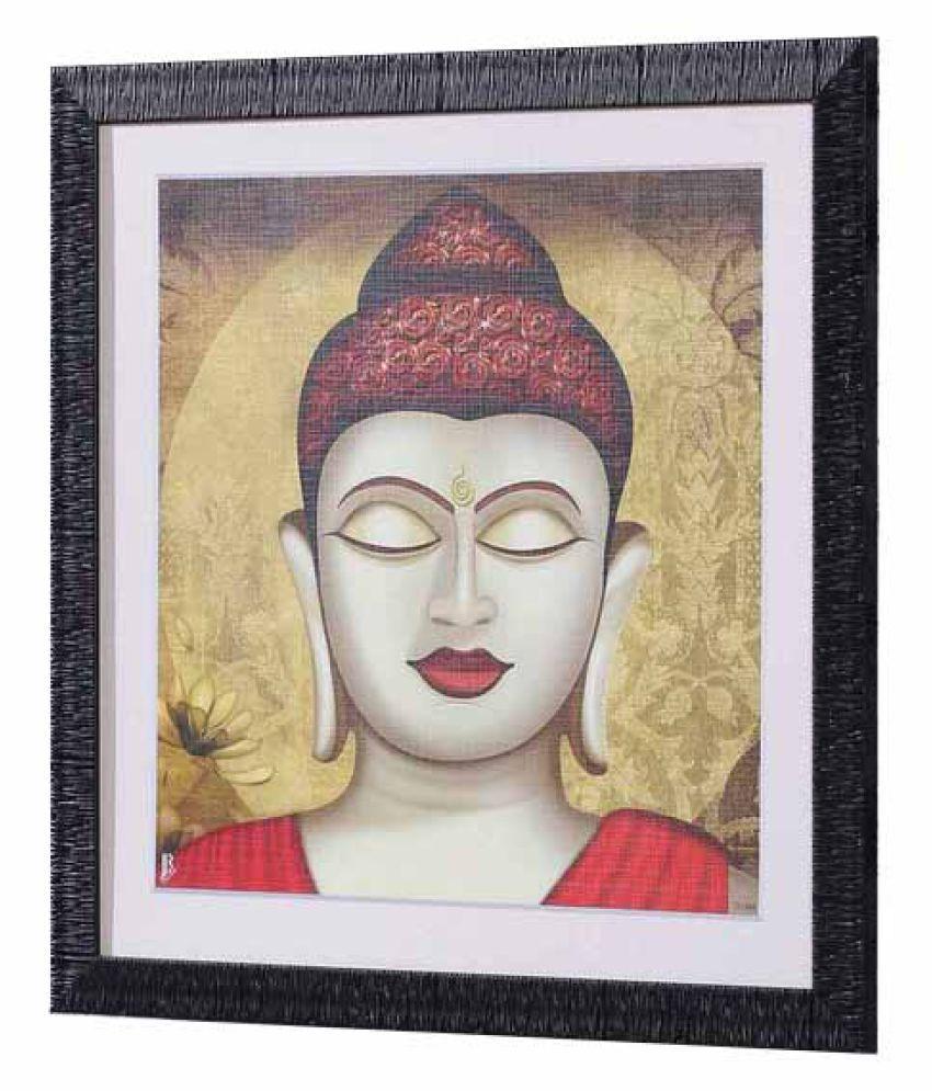Angel Decor Rajputana Collection Wood Painting With Frame Single Piece
