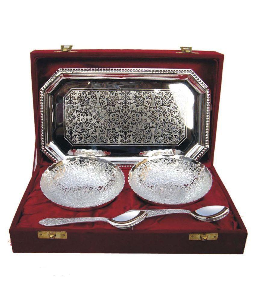 Ornate Brass Diwali Hampers Silver