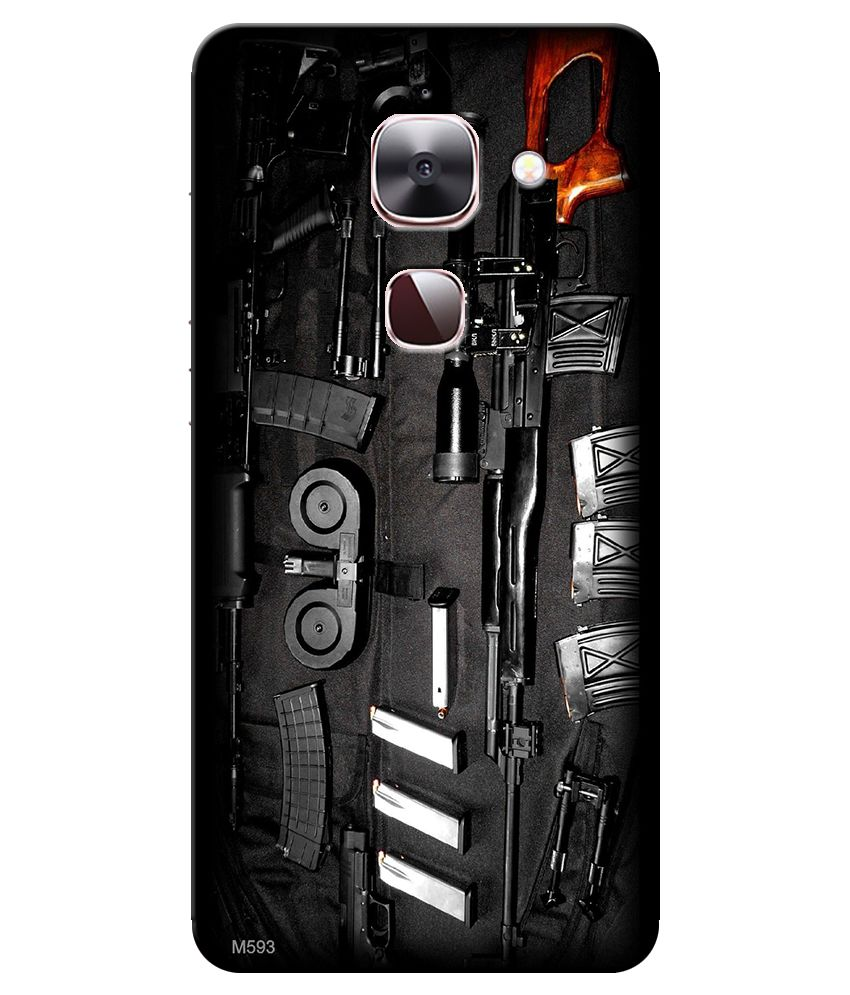 Finest Combo Of Guns Wallpaper HD UV Printed Mobile Back Cover Charging Cable And OTG