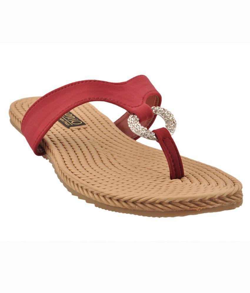 Senso Vegetarian Shoes Maroon Slippers