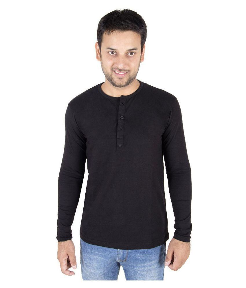 Druthers Black Henley T-Shirt