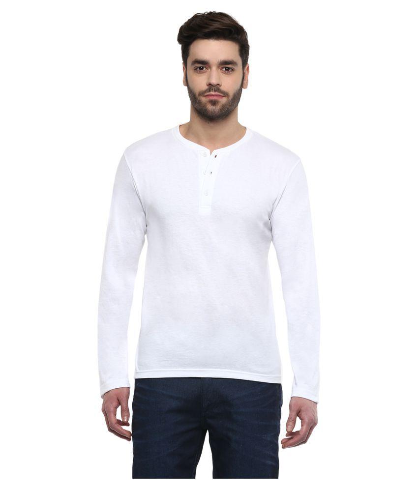 TSX White Henley T-Shirt