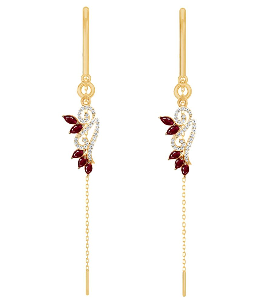 Jacknjewel 18k BIS Hallmarked Yellow Gold Diamond Hangings