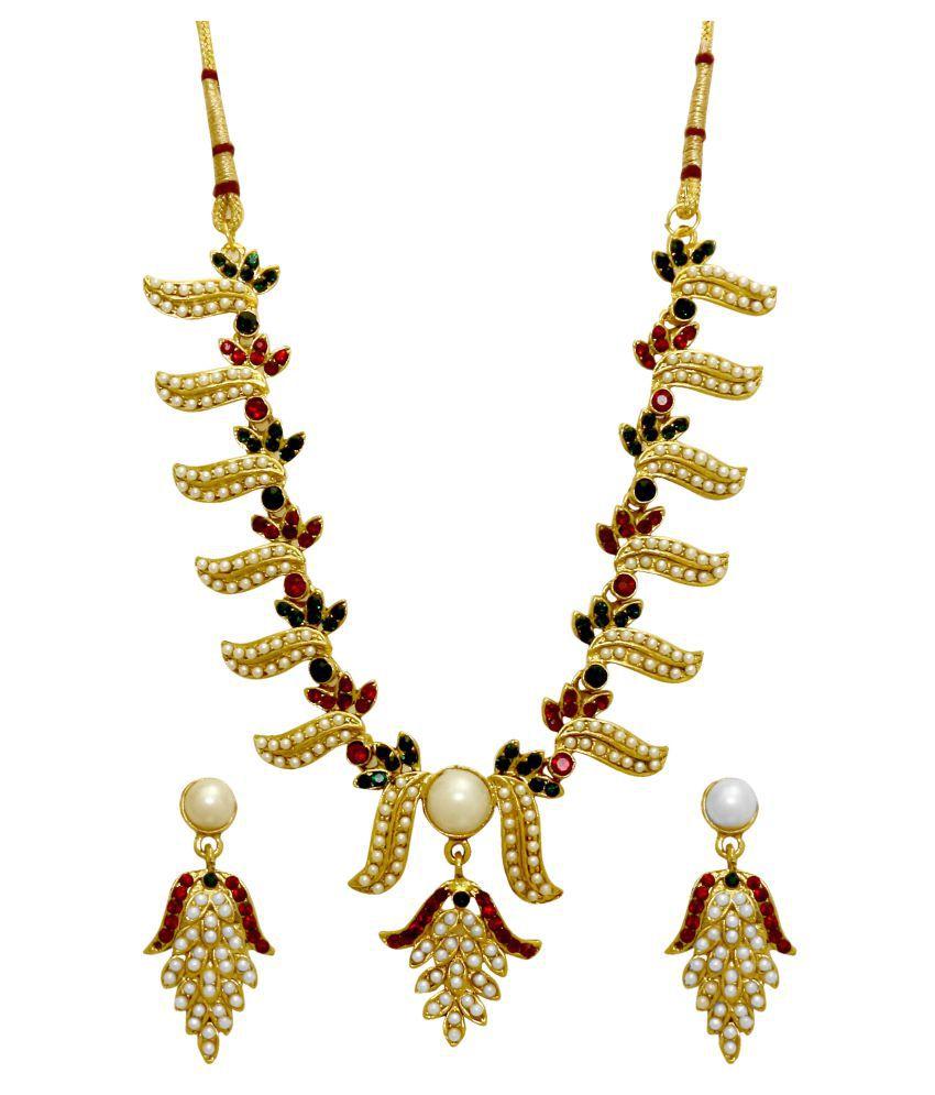 La Trendz Multicolour Necklace Set