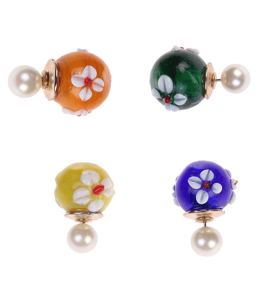 Chkokko Multicolor Earrings - Pair of 4