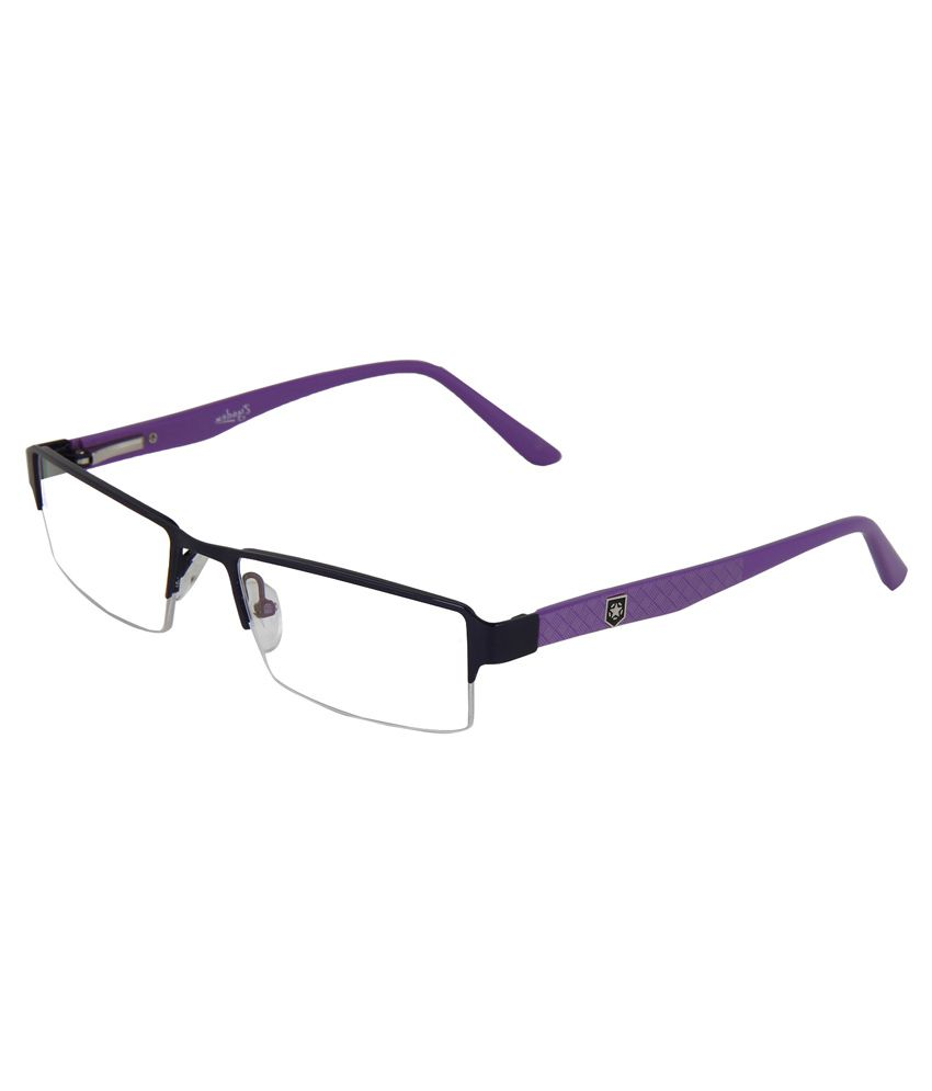 Zyaden Purple Purple Rectangle Half Rim Frame