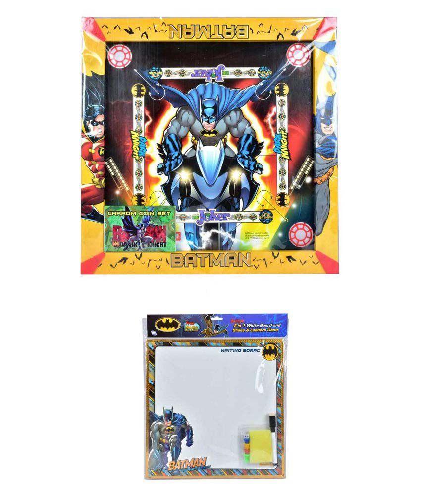 Batman Carrom Board Set with 2 in 1 Writing Board & Game