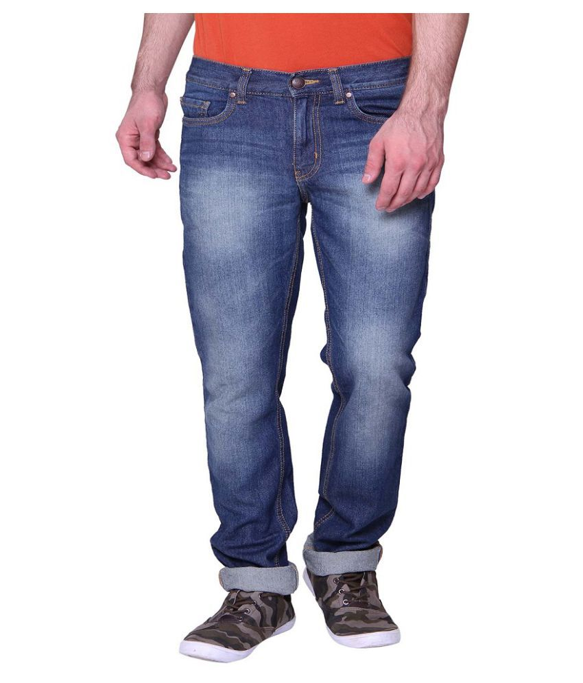 Vudu Blue Slim Faded Jeans