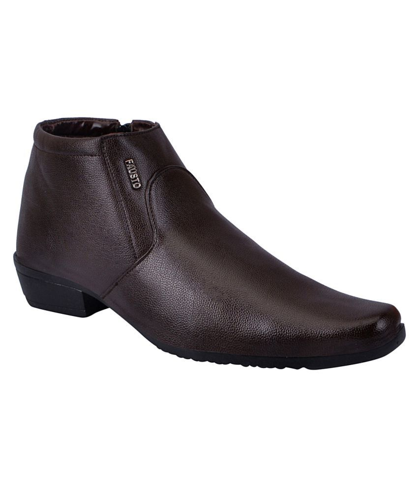 shop for cheap price Fausto Brown Party Boot outlet professional collections cheap price outlet 100% original 3DRf17