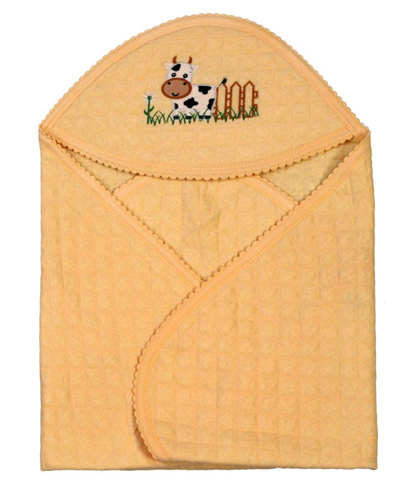 Brim Hugs & Cuddles Beige Baby Wrapper Baby Blanket/Baby Swaddle/Baby Sleeping Bag