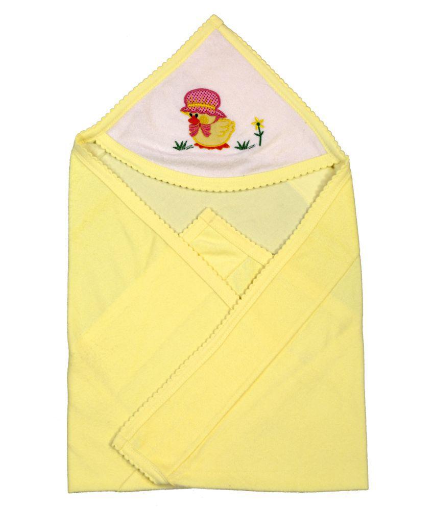 Brim Hugs & Cuddles Yellow Baby Wrapper Baby Blanket/Baby Swaddle/Baby Sleeping Bag