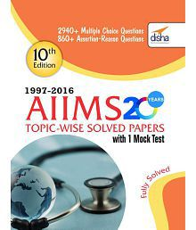 AIIMS 20 years Topic-wise Solved Paper Back English 2016 with 1 Mock Test (10th Edition)
