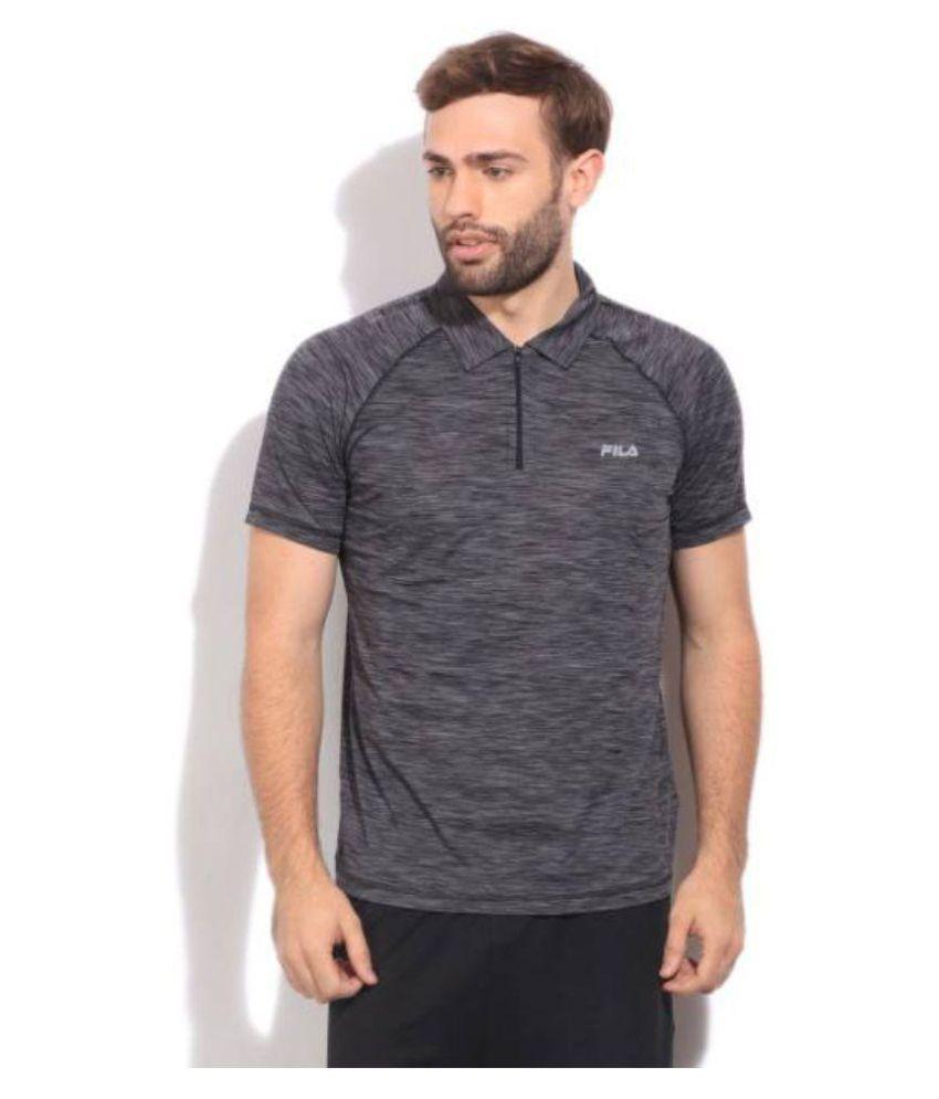 Fila Grey Regular Fit Polo T Shirt