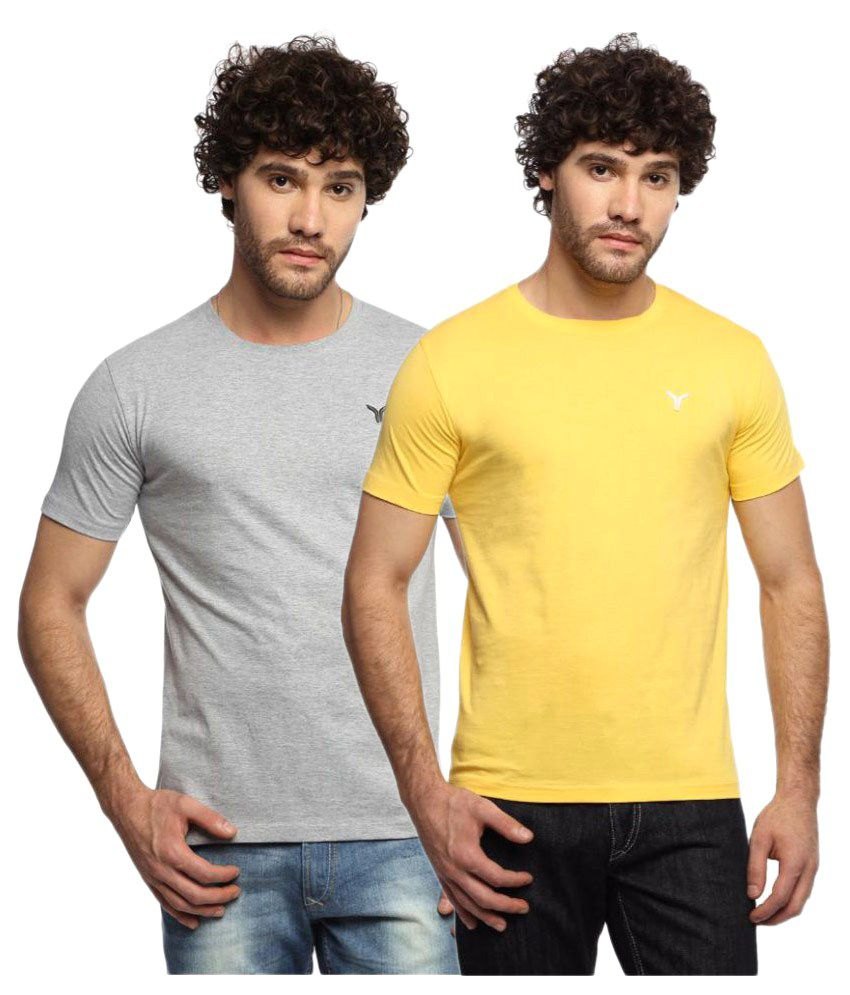 Youthen Multi Round T-Shirt Pack of 2