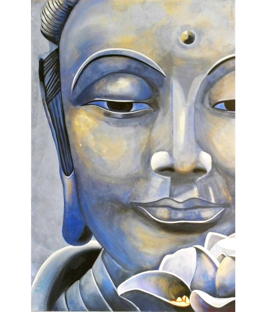 Tallenge Asian Art - Lotus Buddha Canvas Art Prints Without Frame Single Piece
