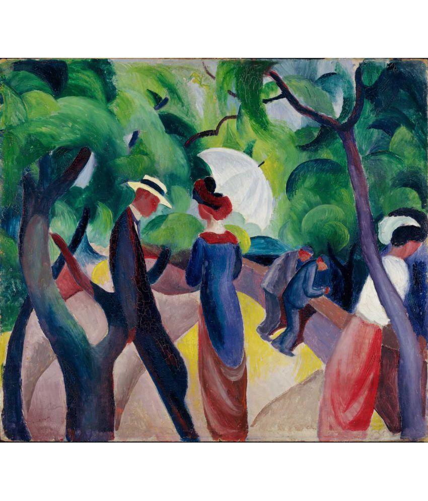 Tallenge Promenade Canvas Art Prints Without Frame Single Piece