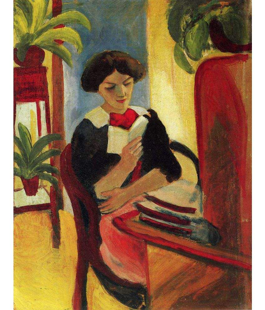 Tallenge  Elizabeth Reading  Canvas Art Prints Without Frame Single Piece