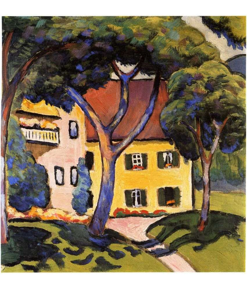 Tallenge Staudacher's House At The Tegernsee Canvas Art Prints Without Frame Single Piece