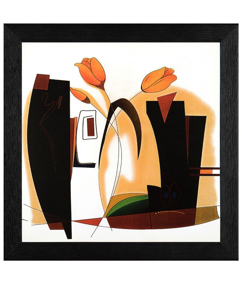 JAF Modern Wood Art Prints With Frame Single Piece