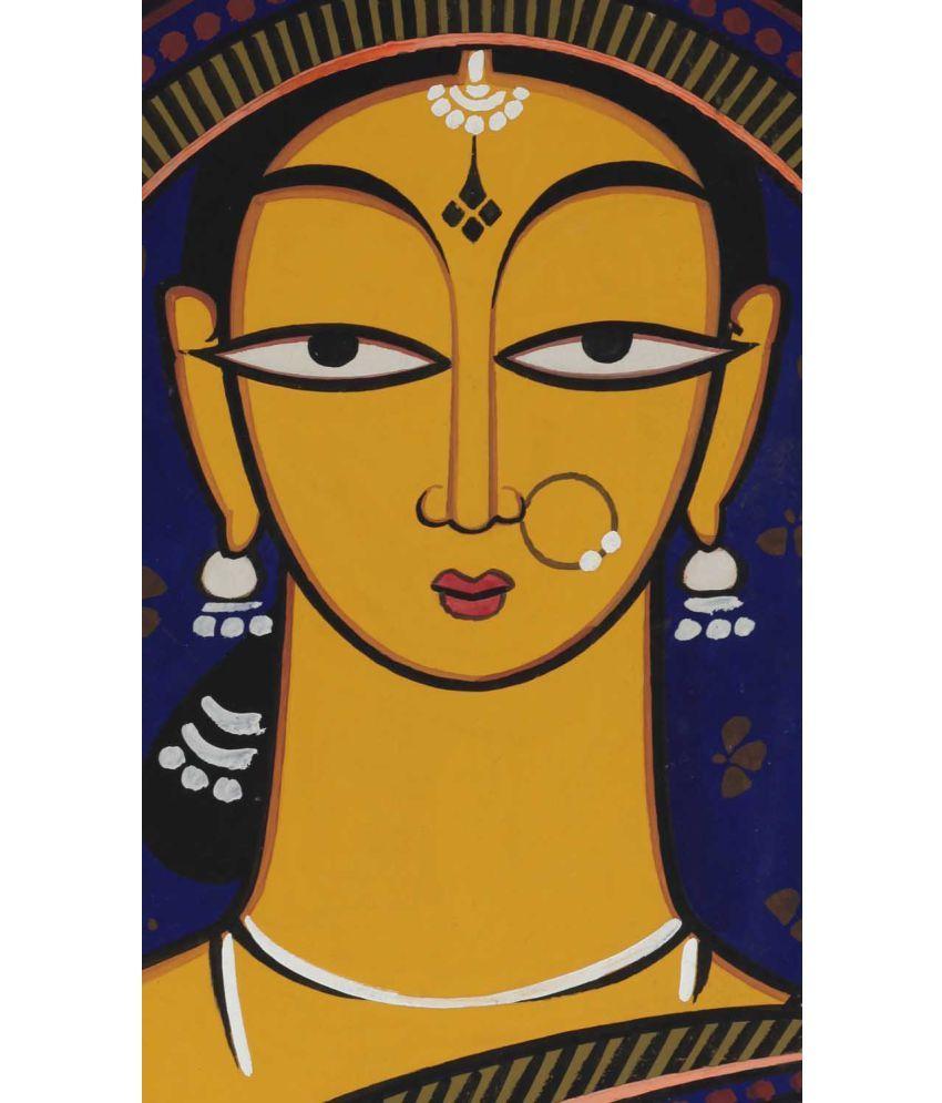 Tallenge Jamini Roy - Handmaiden Canvas Art Prints Without Frame Single Piece