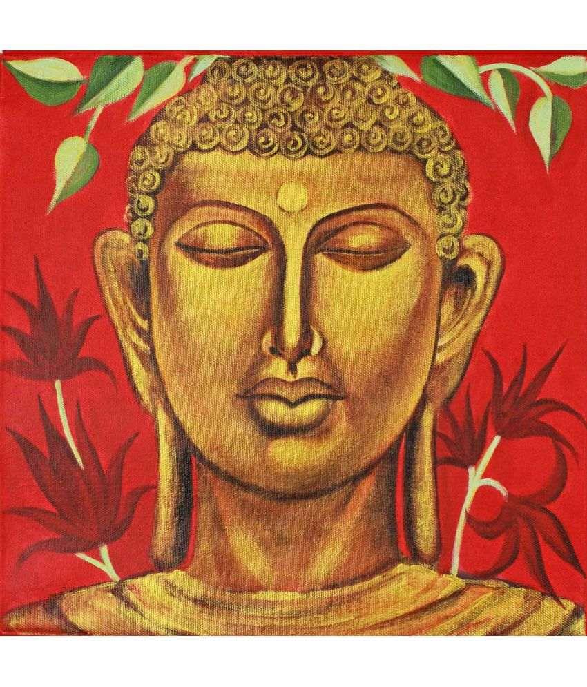 Tallenge Divine Meditating Buddha Canvas Art Prints Without Frame Single Piece