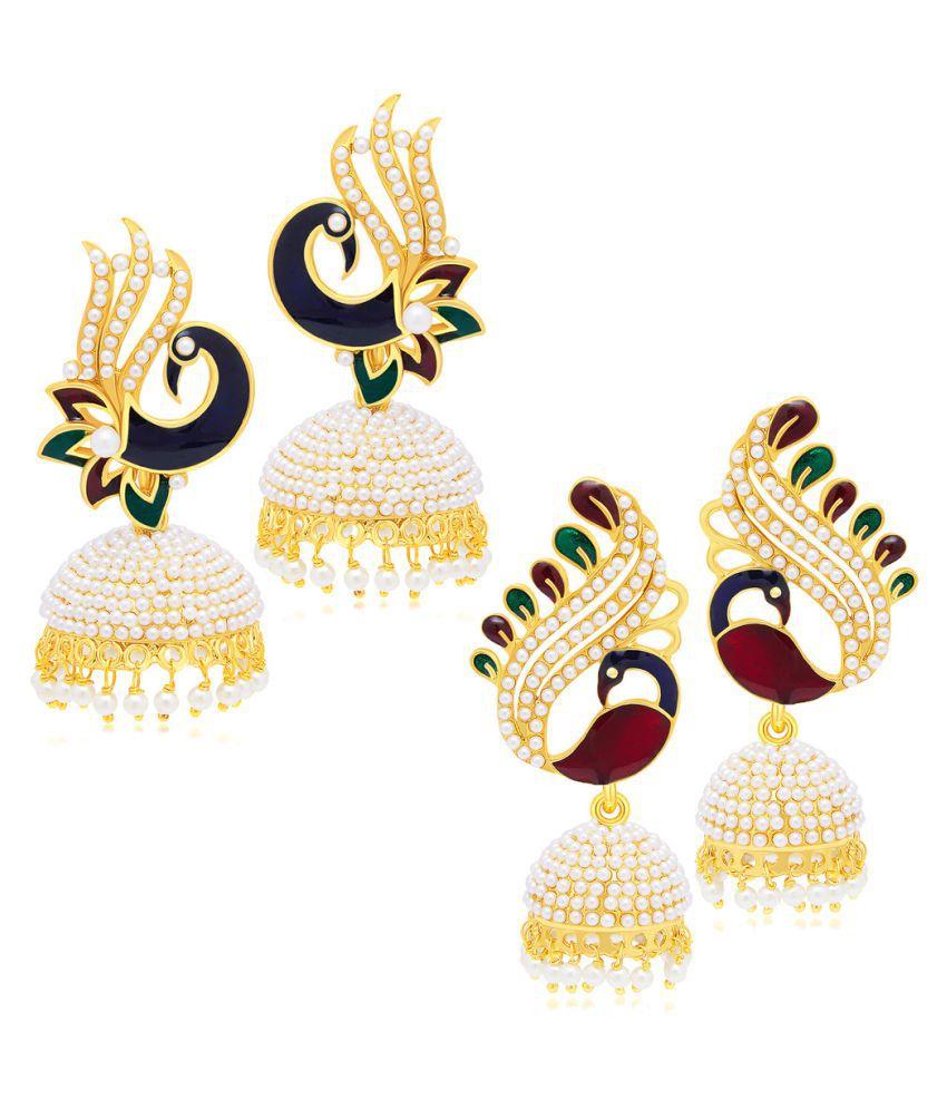 Sukkhi Multicolour Earrings - Pack of 2