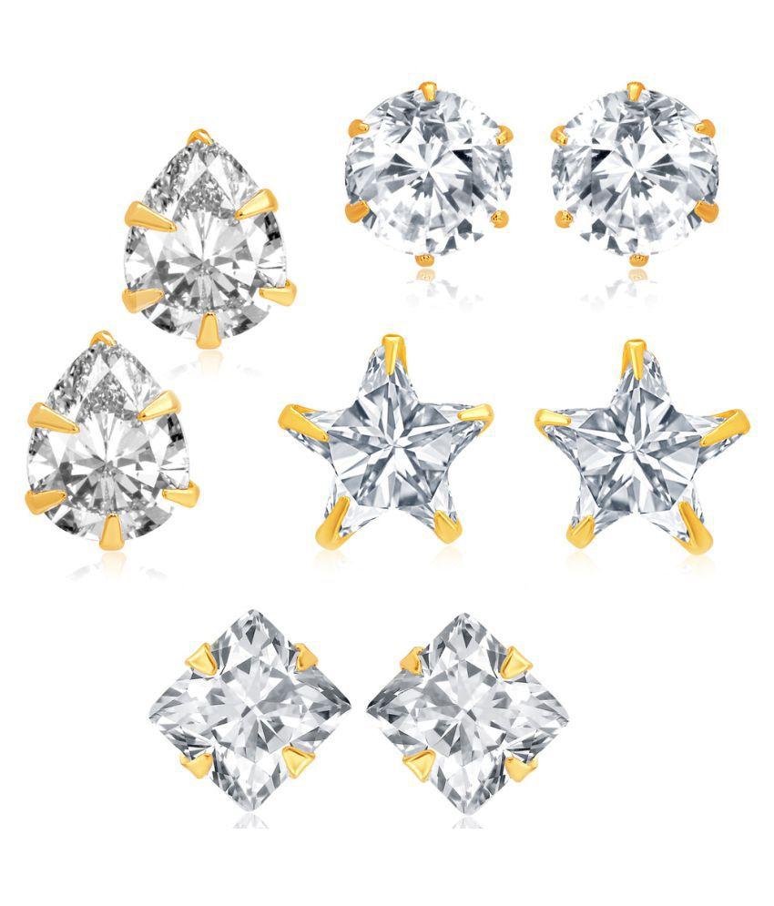 Sukkhi Silver Earrings - Pack of 4