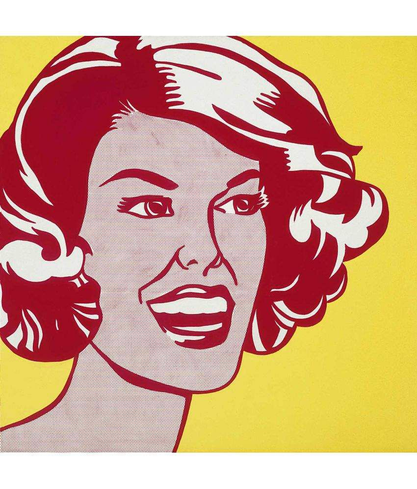 Tallenge Roy Lichtenstein - Head Canvas Art Prints Without Frame Single Piece