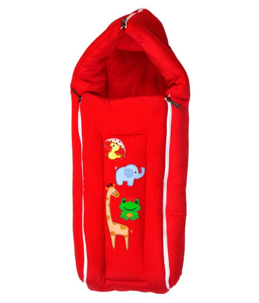 Brim Hugs & Cuddles Red Cotton Sleeping Bag