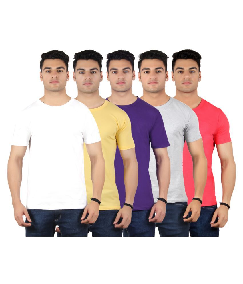 Diaz Multi Round T-Shirt Pack of 5