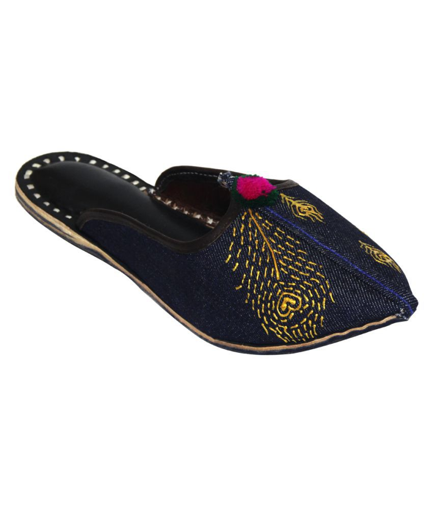 Rang Rage Blue Flat Ethnic Footwear