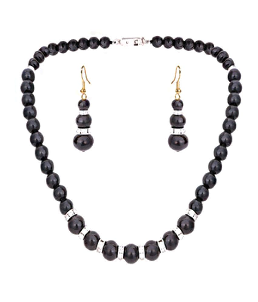 Prisha Black Necklace Set