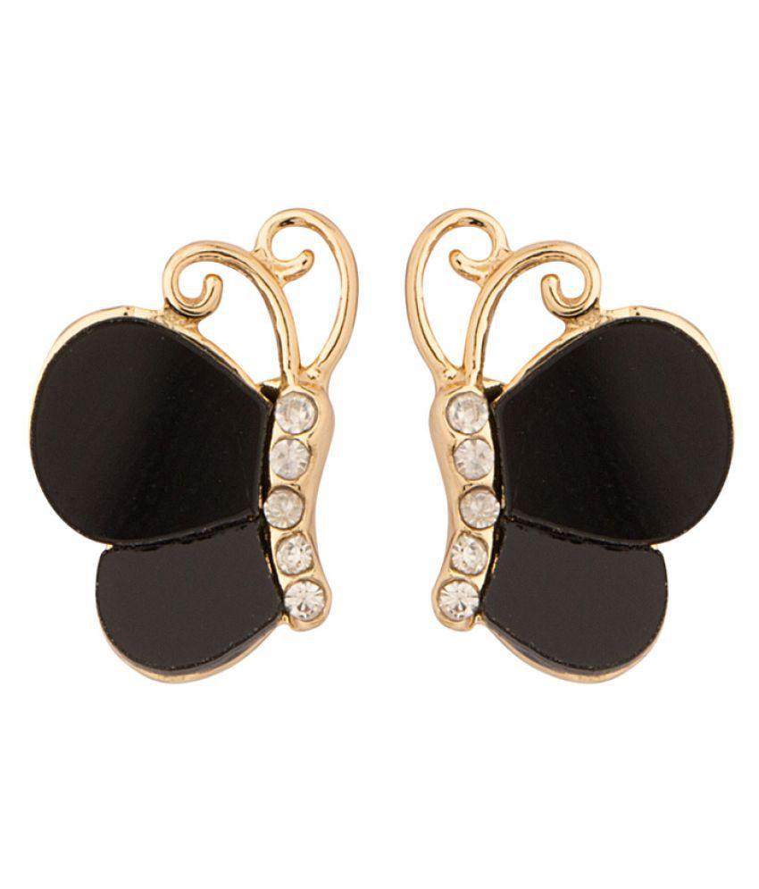 Voylla Black Studs Earrings