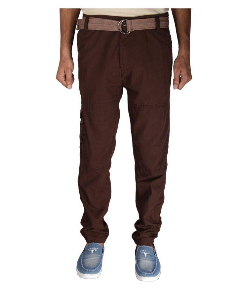 Greentree Coffee Regular Flat Trouser