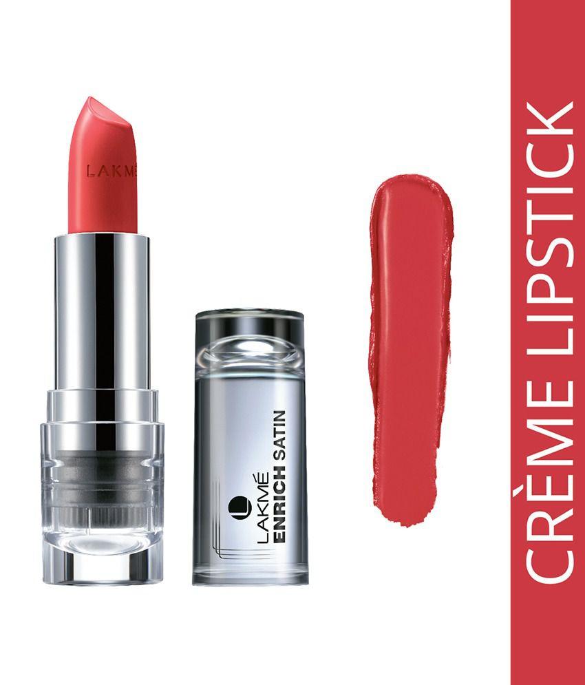 Lakme Enrich Satins Lip Color, Shade P147, 4.3 G