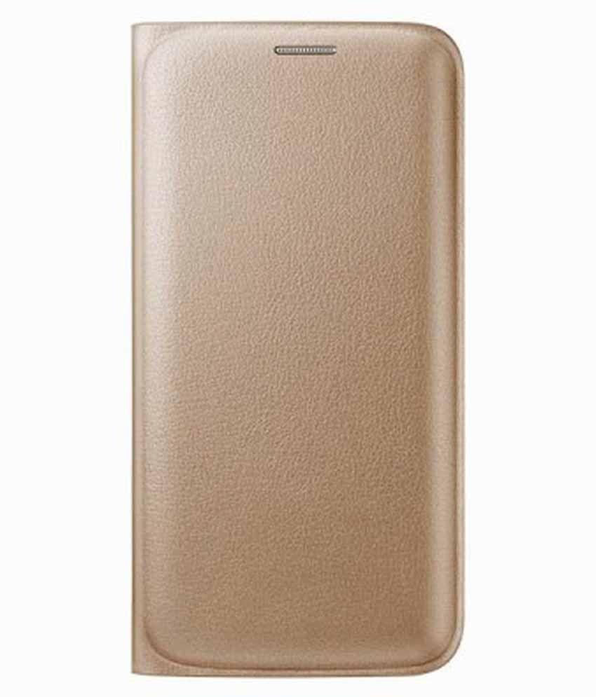 Samsung Galaxy On5 Flip Cover by Sedoka - Golden