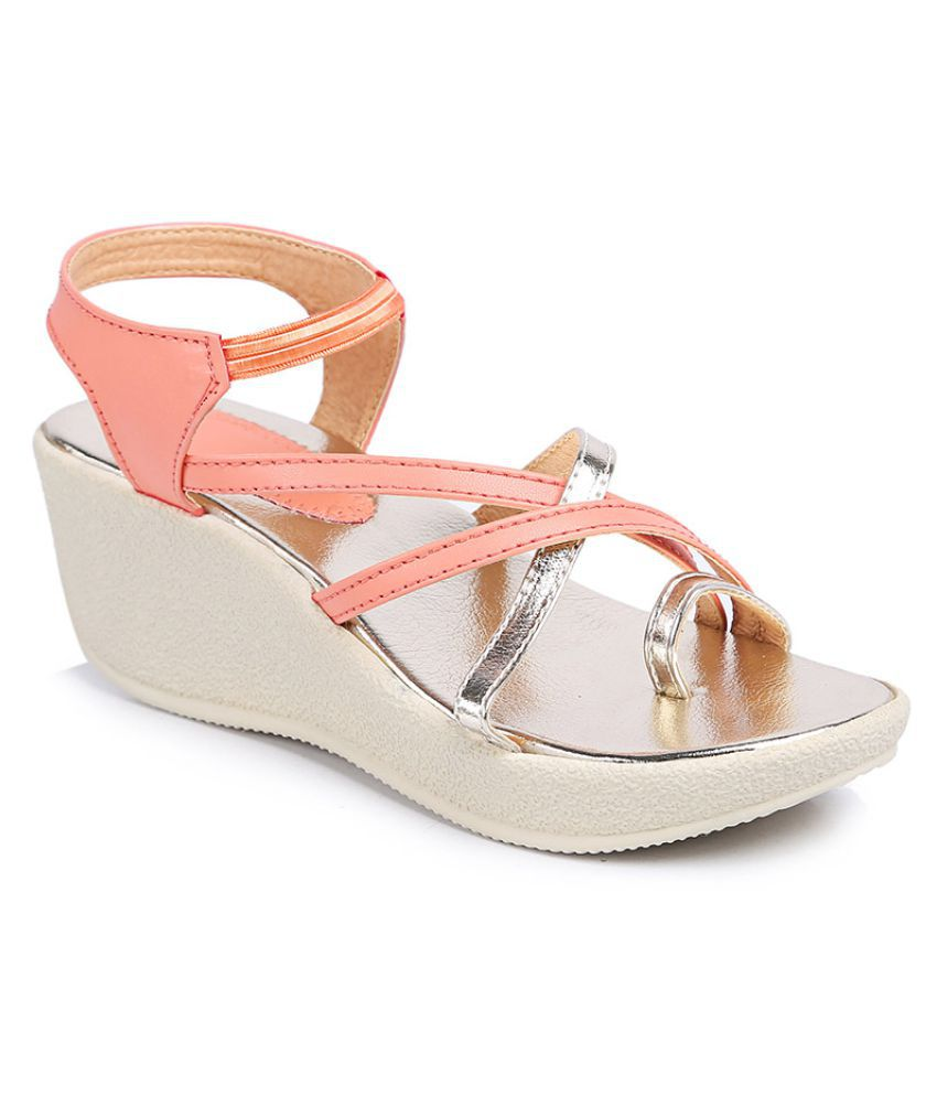 3ff181571f5f Bare Soles PeachPuff Wedges Heels Price in India- Buy Bare Soles PeachPuff  Wedges Heels Online at Snapdeal