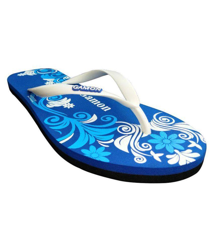 Gamon White Slippers