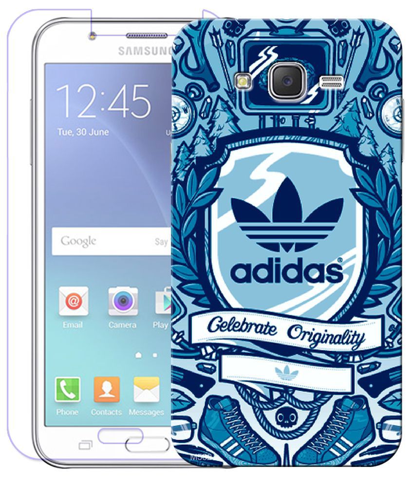 Finest Combo Of Adidas Wallpaper HD UV Printed Mobile Back Cover And Tempered Glass Screen Guard