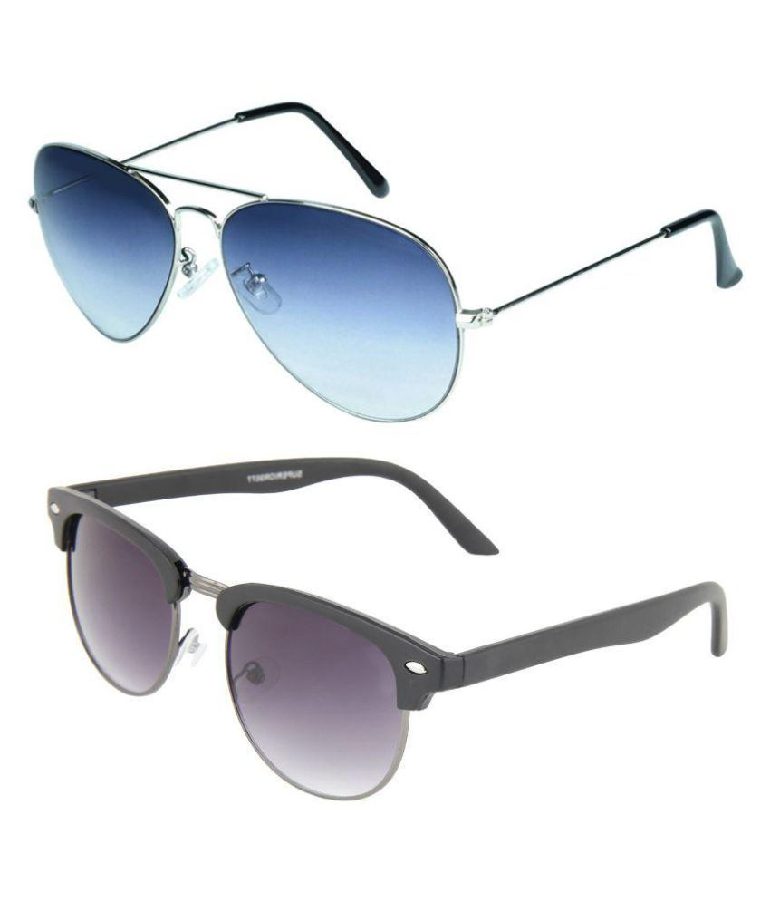 4a383a32d9a Zyaden Black Clubmaster Sunglasses ( Com-90 ) - Buy Zyaden Black Clubmaster  Sunglasses ( Com-90 ) Online at Low Price - Snapdeal
