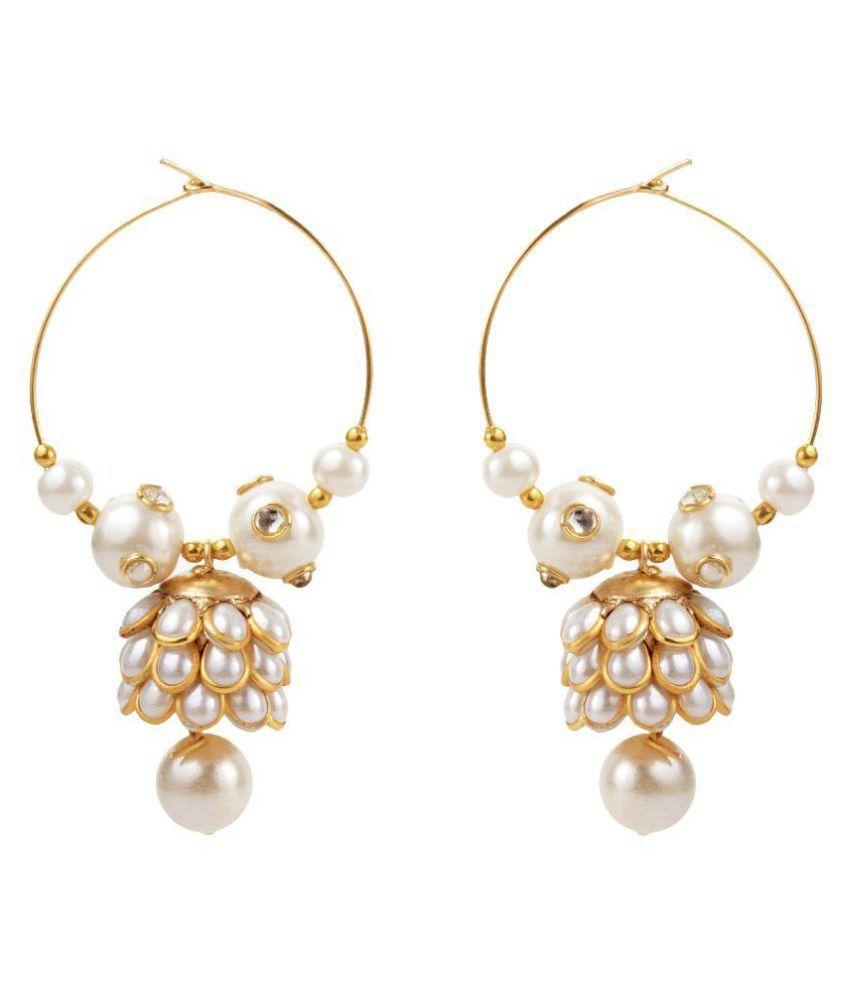 Jewels Gold White Earring Set
